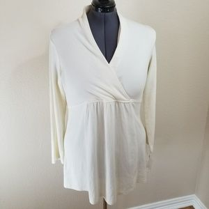 Sahalie Winter White Long Sleeve Knit Tunic 1X